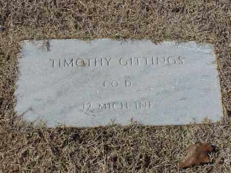GITTINGS (VETERAN UNION), TIMOTHY - Pulaski County, Arkansas | TIMOTHY GITTINGS (VETERAN UNION) - Arkansas Gravestone Photos