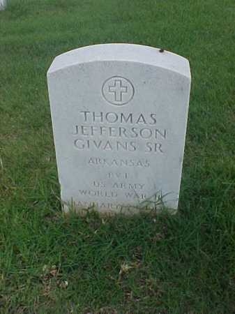 GIVANS, SR (VETERAN WWII), THOMAS JEFFERSON - Pulaski County, Arkansas | THOMAS JEFFERSON GIVANS, SR (VETERAN WWII) - Arkansas Gravestone Photos