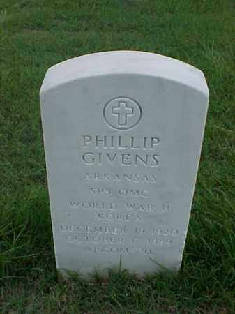 GIVENS (VETERAN 2 WARS), PHILLIP - Pulaski County, Arkansas | PHILLIP GIVENS (VETERAN 2 WARS) - Arkansas Gravestone Photos