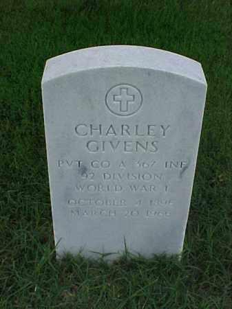 GIVENS (VETERAN WWI), CHARLEY - Pulaski County, Arkansas   CHARLEY GIVENS (VETERAN WWI) - Arkansas Gravestone Photos