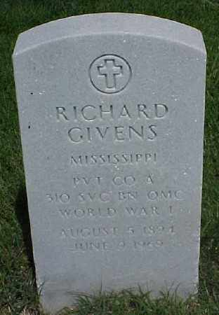 GIVENS (VETERAN WWI), RICHARD - Pulaski County, Arkansas | RICHARD GIVENS (VETERAN WWI) - Arkansas Gravestone Photos