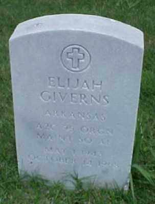 GIVERNS (VETERAN), ELIJAH - Pulaski County, Arkansas | ELIJAH GIVERNS (VETERAN) - Arkansas Gravestone Photos