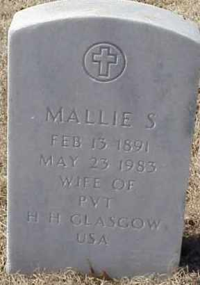 GLASCOW, MALLIE S. - Pulaski County, Arkansas | MALLIE S. GLASCOW - Arkansas Gravestone Photos