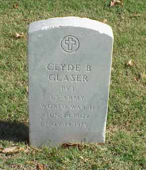 GLASER  (VETERAN WWII), CLYDE B - Pulaski County, Arkansas | CLYDE B GLASER  (VETERAN WWII) - Arkansas Gravestone Photos