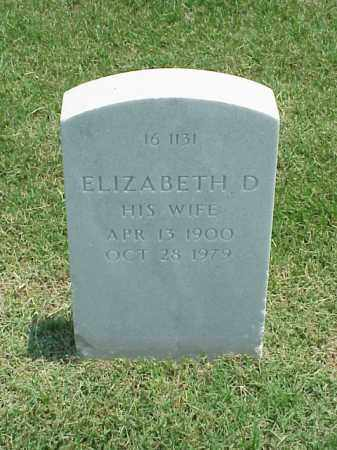 GLASKE, ELIZABETH D - Pulaski County, Arkansas | ELIZABETH D GLASKE - Arkansas Gravestone Photos