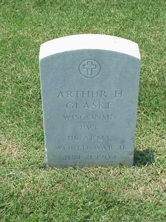 GLASKE (VETERAN WWII), ARTHUR H - Pulaski County, Arkansas | ARTHUR H GLASKE (VETERAN WWII) - Arkansas Gravestone Photos