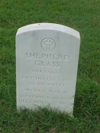 GLASS (VETERAN WWII), SHEPHERD - Pulaski County, Arkansas | SHEPHERD GLASS (VETERAN WWII) - Arkansas Gravestone Photos