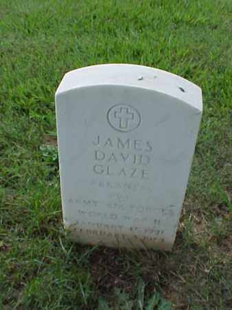 GLAZE (VETERAN WWII), JAMES DAVID - Pulaski County, Arkansas | JAMES DAVID GLAZE (VETERAN WWII) - Arkansas Gravestone Photos