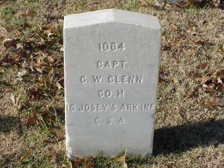 GLENN  (VETERAN CSA), G W - Pulaski County, Arkansas | G W GLENN  (VETERAN CSA) - Arkansas Gravestone Photos