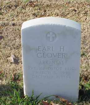 GLOVER  (VETERAN WWI), EARL H - Pulaski County, Arkansas | EARL H GLOVER  (VETERAN WWI) - Arkansas Gravestone Photos