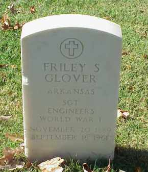 GLOVER  (VETERAN WWI), FRILEY S - Pulaski County, Arkansas | FRILEY S GLOVER  (VETERAN WWI) - Arkansas Gravestone Photos