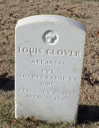 GLOVER (VETERAN WWI), LOUIS - Pulaski County, Arkansas   LOUIS GLOVER (VETERAN WWI) - Arkansas Gravestone Photos