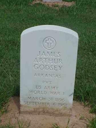 GODSEY (VETERAN WWI), JAMES ARTHUR - Pulaski County, Arkansas | JAMES ARTHUR GODSEY (VETERAN WWI) - Arkansas Gravestone Photos