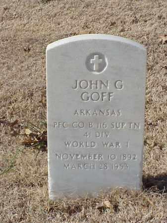 GOFF  (VETERAN WWI), JOHN G - Pulaski County, Arkansas | JOHN G GOFF  (VETERAN WWI) - Arkansas Gravestone Photos