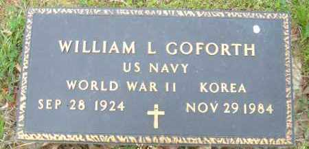 GOFORTH (VETERAN 2 WARS), WILLIAM L - Pulaski County, Arkansas | WILLIAM L GOFORTH (VETERAN 2 WARS) - Arkansas Gravestone Photos