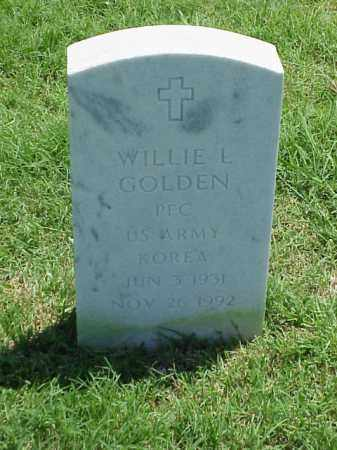 GOLDEN (VETERAN KOR), WILLIE L - Pulaski County, Arkansas | WILLIE L GOLDEN (VETERAN KOR) - Arkansas Gravestone Photos