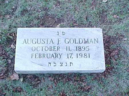 GOLDMAN, AUGUSTA F - Pulaski County, Arkansas | AUGUSTA F GOLDMAN - Arkansas Gravestone Photos