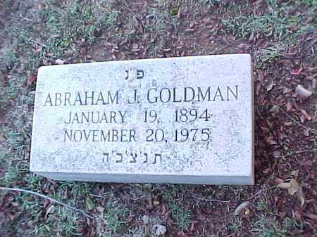 GOLDMAN, ABRAHAM J - Pulaski County, Arkansas | ABRAHAM J GOLDMAN - Arkansas Gravestone Photos