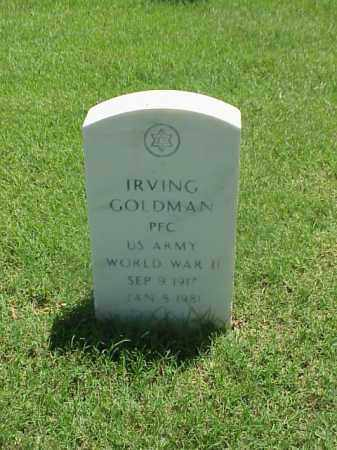 GOLDMAN (VETERAN WWII), IRVING - Pulaski County, Arkansas | IRVING GOLDMAN (VETERAN WWII) - Arkansas Gravestone Photos