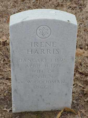 HARRIS GOODMAN, IRENE - Pulaski County, Arkansas | IRENE HARRIS GOODMAN - Arkansas Gravestone Photos