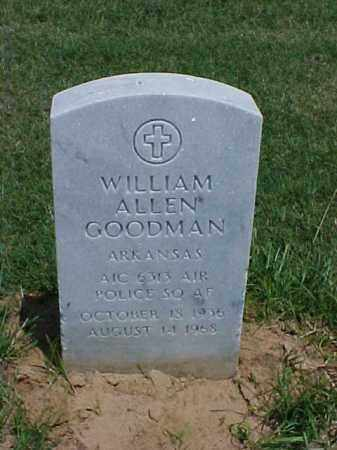 GOODMAN (VETERAN), WILLIAM ALLEN - Pulaski County, Arkansas | WILLIAM ALLEN GOODMAN (VETERAN) - Arkansas Gravestone Photos
