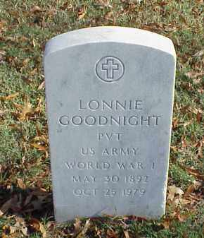 GOODNIGHT  (VETERAN WWI), LONNIE - Pulaski County, Arkansas | LONNIE GOODNIGHT  (VETERAN WWI) - Arkansas Gravestone Photos