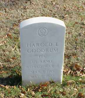 GOODRUM  (VETERAN WWII), HAROLD E - Pulaski County, Arkansas | HAROLD E GOODRUM  (VETERAN WWII) - Arkansas Gravestone Photos