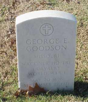 GOODSON  (VETERAN WWI), GEORGE E - Pulaski County, Arkansas | GEORGE E GOODSON  (VETERAN WWI) - Arkansas Gravestone Photos