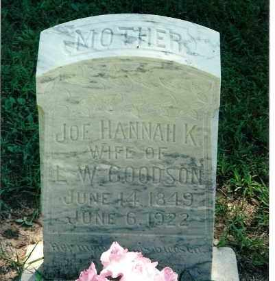 GOODSON, JOE HANNA KATHERINE - Pulaski County, Arkansas | JOE HANNA KATHERINE GOODSON - Arkansas Gravestone Photos