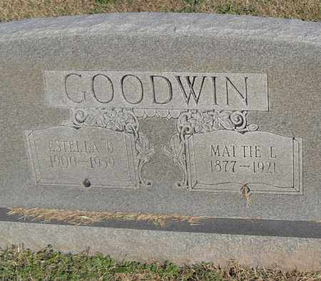 GOODWIN, ESTELLA B. - Pulaski County, Arkansas | ESTELLA B. GOODWIN - Arkansas Gravestone Photos