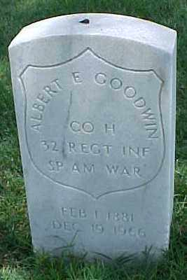 GOODWIN (VETERAN SAW), ALBERT E - Pulaski County, Arkansas | ALBERT E GOODWIN (VETERAN SAW) - Arkansas Gravestone Photos