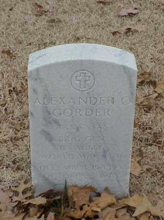 GORDER (VETERAN 2 WARS), ALEXANDER O - Pulaski County, Arkansas | ALEXANDER O GORDER (VETERAN 2 WARS) - Arkansas Gravestone Photos
