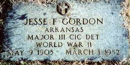 GORDON (VETERAN WWII), JESSE F - Pulaski County, Arkansas | JESSE F GORDON (VETERAN WWII) - Arkansas Gravestone Photos