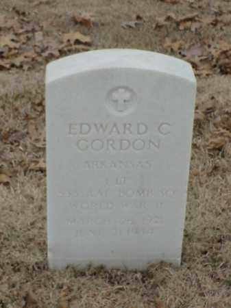 GORDON (VETERAN  WWII), EDWARD C - Pulaski County, Arkansas | EDWARD C GORDON (VETERAN  WWII) - Arkansas Gravestone Photos