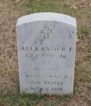 GOSPER, JR  (VETERAN WWII), ALEXANDER F - Pulaski County, Arkansas | ALEXANDER F GOSPER, JR  (VETERAN WWII) - Arkansas Gravestone Photos
