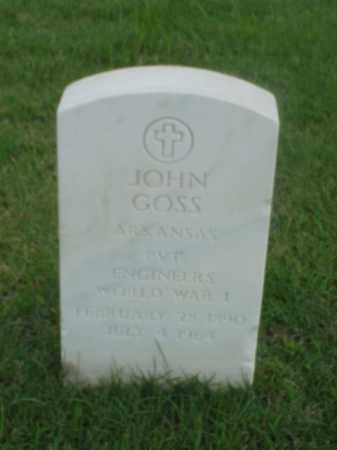 GOSS (VETERAN WWI), JOHN - Pulaski County, Arkansas | JOHN GOSS (VETERAN WWI) - Arkansas Gravestone Photos