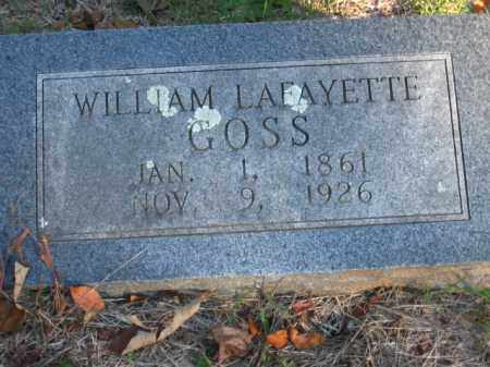 GOSS, WILLIAM LAFAYETTE - Pulaski County, Arkansas | WILLIAM LAFAYETTE GOSS - Arkansas Gravestone Photos