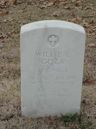 GOZA (VETERAN WWII), WILLIE L - Pulaski County, Arkansas | WILLIE L GOZA (VETERAN WWII) - Arkansas Gravestone Photos