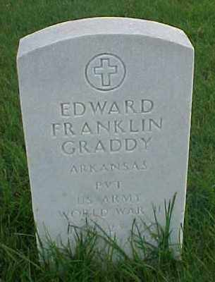 GRADDY (VETERAN WWII), EDWARD FRANKLIN - Pulaski County, Arkansas | EDWARD FRANKLIN GRADDY (VETERAN WWII) - Arkansas Gravestone Photos