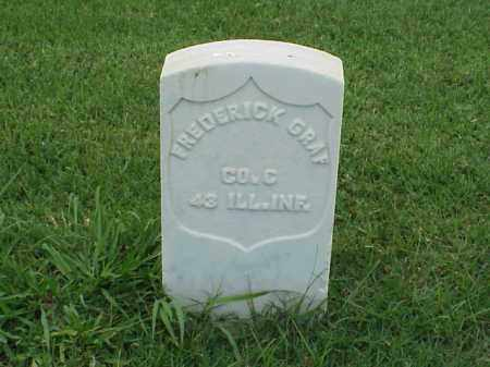 GRAF (VETERAN UNION), FREDERICK - Pulaski County, Arkansas | FREDERICK GRAF (VETERAN UNION) - Arkansas Gravestone Photos