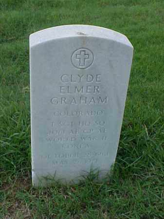 GRAHAM (VETERAN 2 WARS), CLYDE ELMER - Pulaski County, Arkansas | CLYDE ELMER GRAHAM (VETERAN 2 WARS) - Arkansas Gravestone Photos