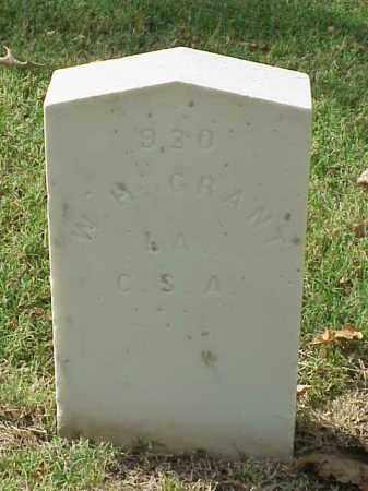 GRANT  (VETERAN CSA), W H - Pulaski County, Arkansas | W H GRANT  (VETERAN CSA) - Arkansas Gravestone Photos