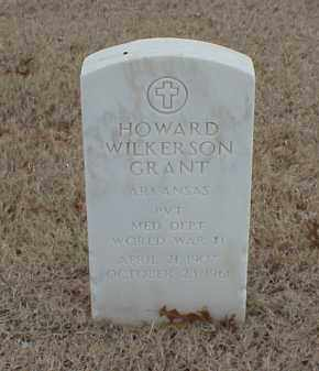 GRANT (VETERAN WWII), HOWARD WILKERSON - Pulaski County, Arkansas | HOWARD WILKERSON GRANT (VETERAN WWII) - Arkansas Gravestone Photos