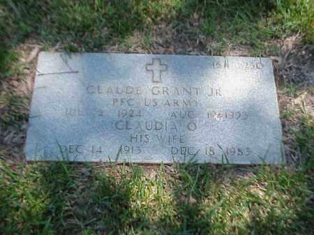 GRANT, JR (VETERAN WWII), CLAUDE - Pulaski County, Arkansas | CLAUDE GRANT, JR (VETERAN WWII) - Arkansas Gravestone Photos