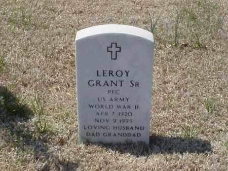 GRANT, SR (VETERAN WWII), LEROY - Pulaski County, Arkansas | LEROY GRANT, SR (VETERAN WWII) - Arkansas Gravestone Photos