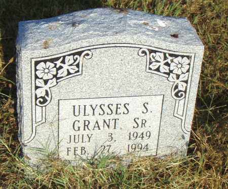 GRANT SR, ULYSSES S - Pulaski County, Arkansas | ULYSSES S GRANT SR - Arkansas Gravestone Photos