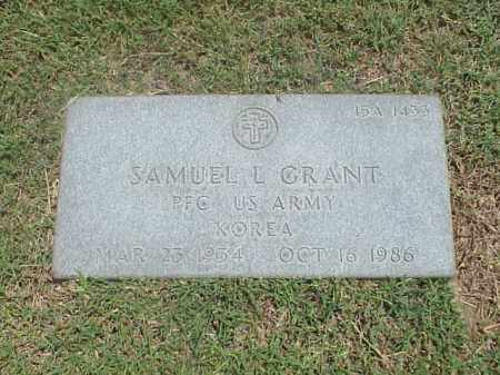 GRANT (VETERAN KOR), SAMUEL L - Pulaski County, Arkansas | SAMUEL L GRANT (VETERAN KOR) - Arkansas Gravestone Photos