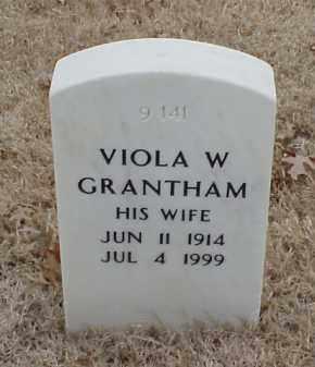 GRANTHAM, VIOLA W - Pulaski County, Arkansas | VIOLA W GRANTHAM - Arkansas Gravestone Photos