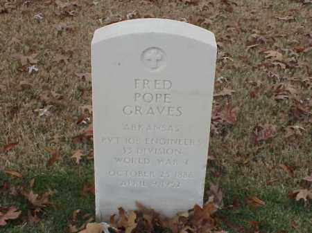 GRAVES  (VETERAN WWI), FRED POPE - Pulaski County, Arkansas | FRED POPE GRAVES  (VETERAN WWI) - Arkansas Gravestone Photos