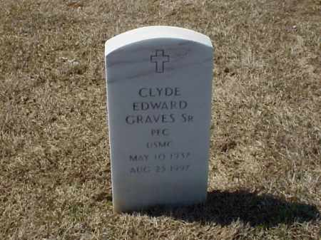 GRAVES, SR (VETERAN), CLYDE EDWARD - Pulaski County, Arkansas | CLYDE EDWARD GRAVES, SR (VETERAN) - Arkansas Gravestone Photos
